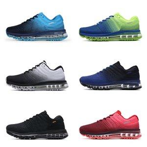 Atacado Mens Air 2017 Passeio ocasional executando calçado desportivo Cheap Marca 2020 Man mosca das mulheres Preto Azul Vermelho Branco instrutor Sneakers