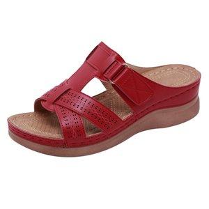 SAGACE women's sandals soft Open Toe Hook Loop Comfy Sandals wedges flip flops women Casual Non-Slip Slippers Indoor Slippers
