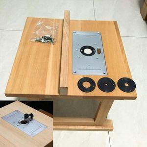3шт маршрутизатор Таблица Вставка Тарелка Набор инструментов для деревообработки Гравировка Скамейки NEW