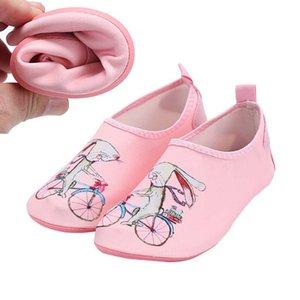 Coelho Children Impressão da sapatilha Kid Calçados Meninas Beach Boys Sapatos piscina de água sapatos para piscina Quick Dry Flip Flops