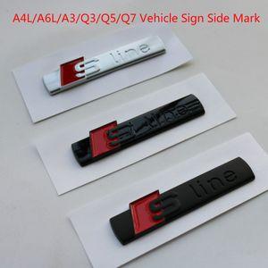 أودي A4L A6L A3 Q3 Q5 Q7 مستوى السيارات المعدلة Sline رقة متن جانب ملصقات القياسية السيارات الرياضية ملصقات السيارات