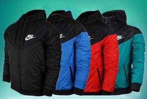 Moda New Men Ceket İlkbahar Sonbahar Günlük Spor Giyim WINDBREAKER Kapşonlu Fermuar Up Coats Wear Güz