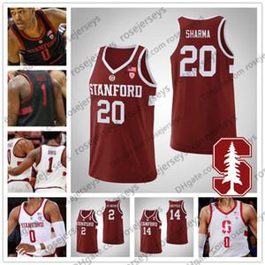 Özel Stanford Cardinal Basketbol 3 Tyrell Terry 13 Oscar da Silva 14 Spencer Jones 2 Bryce Wills Erkekler Gençlik Kid NCAA Jersey 4XL