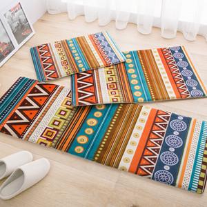 Korean Style Door Mat Ethnic Carpet For Living Room Kitchen Bathroom Hallway Absorbent Non-slip Rug Home Decor 40*60cm-45*120cm
