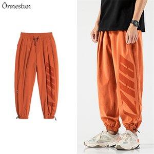 Men's Pants Onnestun Streetwear Joggers Print Letter Sport Elastic Waist Plus Size Loose Cargo Men