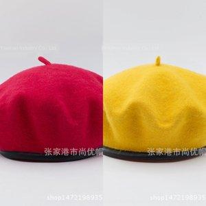 fSiDe Нового зажатого хуа Jia мао хуа Jia мао художник шляпу шерстяного кружево регулируемой шерстяного кружева крышка живописца колпачком женщины осенью и зима мода га