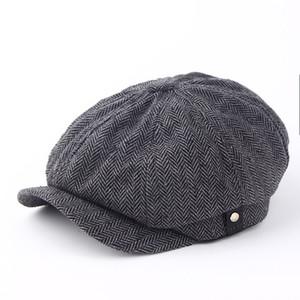 Мода Gentleman восьмиугольная Cap Newsboy Hat Берет осень и зима для мужчин Джейсон Стэтхэм Мужской Модели Flat Caps