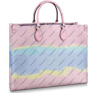 estilo de la playa brillante bolsas de asas de hombro Compuesto de la manera monedero de los bolsos de embrague de la PU bolso de cuero femenino 2pcs cartera / set