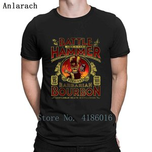 Battle Hammer Bourbon T Shirt Summer Style Short Sleeve Basic Solid Customized Cool Size S-5xl Humor Graphic Shirt