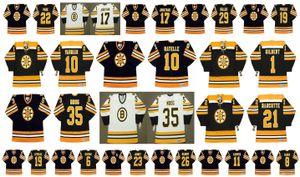 Vintage Boston Bruins Jersey 8 Peter McNab 22 BRAD PARK 19 NORMAND Leveille 6 KLUZAK 23 Craig Janney 26 MIKE Milbury 11 STEVE KASPER Hockey