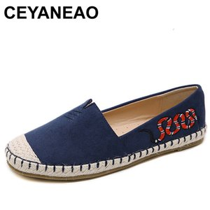 CEYANEAO All Seasons Femmes Fat Flats Chaussures Femme Doux Confortable Chaussures De Plein Air 2019 Casual Slip On FlatsE1790
