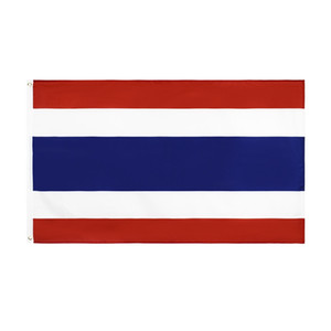 Free Shipping In Stock 3x5ft 90x150cm Hanging National THA TH Thailand Flag Banner for Celebration Decoration