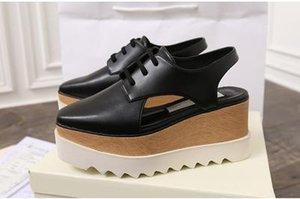 Stella Mccartney Sandals Shoes Nude Soft Genuine Leather Women Platform Elyse Nina hb01