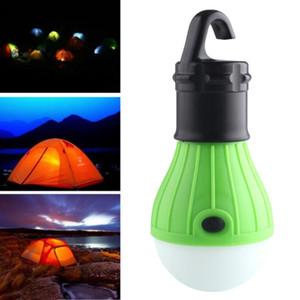 Mini Lampada da lanterna portatile Lampada LED Lampadina di emergenza Lampada di emergenza impermeabile Torcia elettrica per campeggio 4 colori Uso 3 * AAA spedizione gratuita