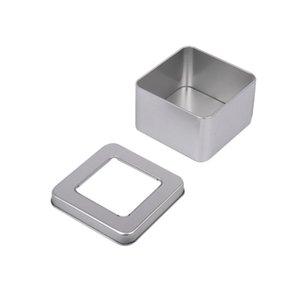 Mini Demir Kutusu Kare Kutuları Pencere Ambalaj Bilek İzle Çay Kutular Aperatifler Taşlama Demir Kutuları Pratik Uygun 2 9dy k1
