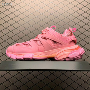 Parigi New colore rosa della pista 3.0 Tess donne Triple S Comfort Casual Shoes Clunky Sneaker moda Dad Chaussures scarpe