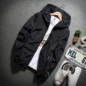 Mens Designer Jacket Solid Color Hooded Jacket with Zipper New Arrival Fashion Autumn Jacket Coat Men Long Sleeve Plus Size Jackets
