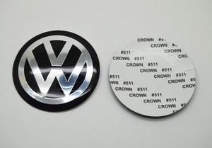 4pcs 56,5 millimetri 60 millimetri 65 millimetri 70 millimetri 75 millimetri 90 millimetri 120 millimetri per VW Sticker mozzo del volante della rotella Sticker