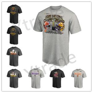 2020 Мужская мода LSU Тигры Клемсон Тигры колледжа Wear Национальный чемпионат по футболу NCAA Фирменные футболки для любителей печатных Логоса