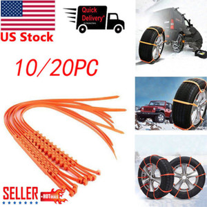 10 20x Car Anti-skid Snow Tyre Tire Chains Beef Tendon Wheel Chain Belt Set Hot Selling Car Anti-skid Snow Tyre Tire Chains