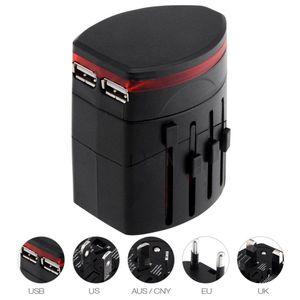 All In One Dual USB Port and US UK AU EU Universal Travel Adapter AC Power Plug Adaptor