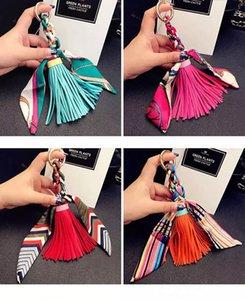 2020 мода упаковка кисточкой кулон горячие продажи небольшой шелковый шарф с кожаными аксессуарами женская сумка должна соответствовать 11 цветов