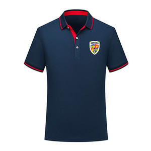 Designer Roumanie équipe nationale Polo manches courtes formation Mode Sport Football TShirt Jersey Polos de tshirt Hommes Polos