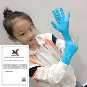 100 Guantes de nitrilo desechables PCS niños de grado alimenticio para niños de PVC protector de caucho de látex Las tareas del hogar Pequeño Tamaño