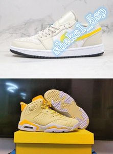 1 Low Light Orewood Brown Features Tropical Vibes High Quality AJ 1 Jumpman 6 GS Floral Basketball Sneakers Shoes CK3022-107 Women Sports