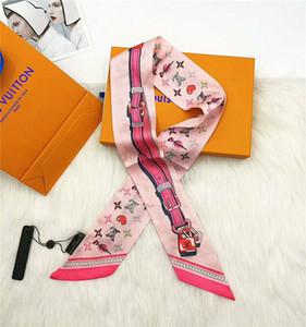 2020 Оптовая продажа новых шелковых шарфов двойная лента мода роскошные повязка шарфы для мужчин и женщин 120*8 см