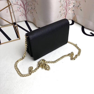 Famoso bolso bandolera de cadena bolsos de cuero real bolso cuadrado pequeño de señora trabajadora de alta calidad bolso de hombro único de señora