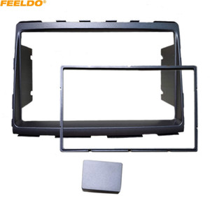 FEELDO Car Refitting 2DIN Radio Stereo DVD Frame Fascia Dash Panel Installation Kits For For SSangyong Rodius 2013 #5243