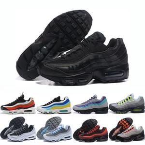 Uomini Triple Nero scarpe da corsa Chaussures Bred Neon impianto solare laser rosso fucsia traspirante Università Blu Mens Trainer Sneakers Eur 36-46