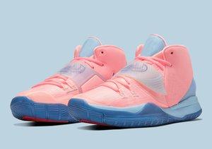 النساء Kyries 6 خبري الوردي أحذية الأطفال المبيعات مع صندوق جديد 6 كرة السلة الأحذية قطرة الشحن أسعار الجملة الحرة الشحن US4-US12