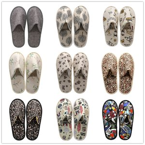 10 Styles Disposable House Slipper Designer Pantoufle Spa Slippers Close Toe Non-slip Casual Hommes for Home Hotel Use