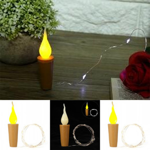 LED 병 마개 램프 문자열 구리 실버 컬러 와이어 빛 문자열 멀티 색상 축제 장식 조명 4 5qs2 L1