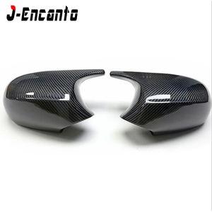M Look Carbon Fiber Replacement Side Door Mirror Caps for BMW 3 Series E92 E93 Pre-LCI 2-Door Mirror Cover 2006-2009 320i 335i