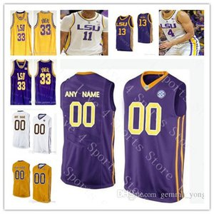 LSU Tigers Koleji Basketbol Formaları 24 Emmitt Williams 3 Tremont Waters 0 Naz Reid 4 Skylar Mays 1 Ja'vonte Smart 11 Kavell Bigby-Williams