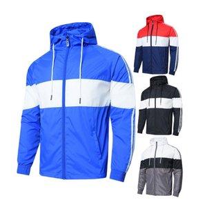 Ins vestes chaudes unisexe bonne mince veste sweat design hommes qualité taille asiatique poche mince occasionnels Zipper expédition rapide lettres sur le bras