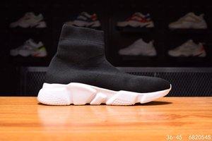 Designer scarpe da ginnastica Speed Trainer rosso multicolore bianco e nero triple stivali calzino piani di modo nero scatola di imballaggio merletto casuale