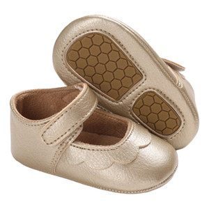 2020 Summer Baby Girl Shoes Toddler Sole Crib Shoes Soft Princess Solid Prewalker Comfortable Fashion First Walkers Anti-Slip