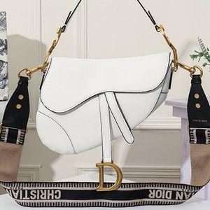 Designer Luxury Women Handbags Saddle Bag Retro Luxury Shoulder Messenger Paragraph Rivet Broadband Saddle Bag Size25.5x20x6.5cm Type6