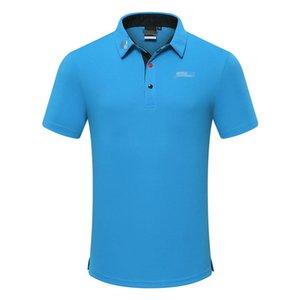 2019 homens traje de golfe primavera e verão de manga curta t-shirt de secagem rápida respirável roupas de golfe jersey