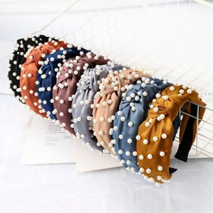 South Korea INS Online Celebrity-Europe And America Nail Pearl Headband Simple Knot Hair Bands Headdress C216