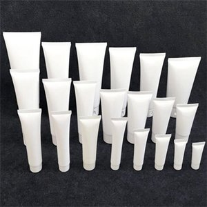 15ml 20ml 30ml 50ml 100ml Beyaz Plastik Kozmetik Tüp Doldurulabilir Kozmetik Numune şişeleri Kavanozlar Makyaj Seyahat Konteynerleri İçin Losyon Duş Jeli