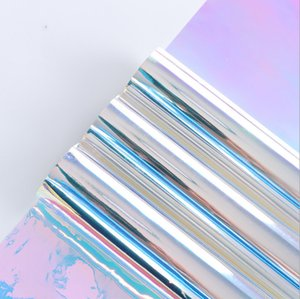 50CM*9M Rainbow Membrane Celebration Party Gift Wrapping Paper Gradually Changing Color Wrapping Material OPP General Wrapping Paper