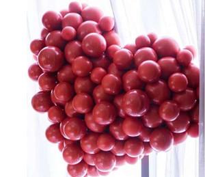 Kırmızı renk düğün balonlar çocuklar oyuncakları balonları Yeni Fotoğrafçılık Dekorasyon Yüksek Kaliteli Şişme Hava topları Yeni Geliş 50 adet