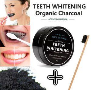 치아 미백 대나무 숯 칫솔 소프트 - bristle 나무 칫솔 치아 분말 구강 위생 청소