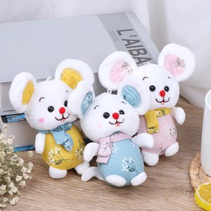 Sweet heart rat doll pendant plush toy Chinese style cloth key chain ornament activity gift 2020