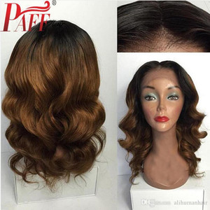 360 Lace Frontal Wig Ombre Color Body Wave Lace Front Human Hair Wigs Two Tone Peruvain Remy Hair Wig